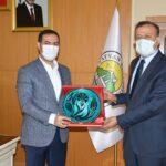 Rektör Elmastaş'tan Başkan Geylani'ye İadeyi Ziyaret