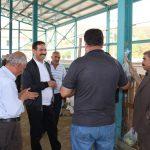 Başkan Geylani, bayram öncesi mezbahane ve hayvan pazarını ziyaret etti